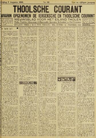 Ierseksche en Thoolsche Courant 1936-08-07