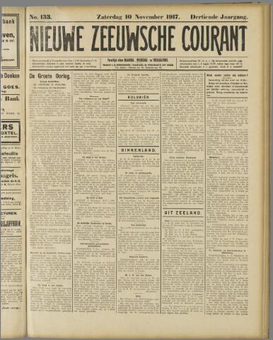 Nieuwe Zeeuwsche Courant 1917-11-10