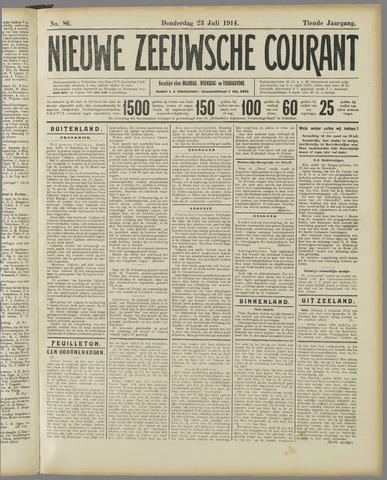 Nieuwe Zeeuwsche Courant 1914-07-23