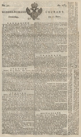 Middelburgsche Courant 1763-03-10