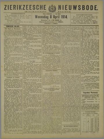 Zierikzeesche Nieuwsbode 1914-04-08