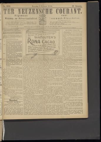 Ter Neuzensche Courant. Algemeen Nieuws- en Advertentieblad voor Zeeuwsch-Vlaanderen / Neuzensche Courant ... (idem) / (Algemeen) nieuws en advertentieblad voor Zeeuwsch-Vlaanderen 1914-02-07