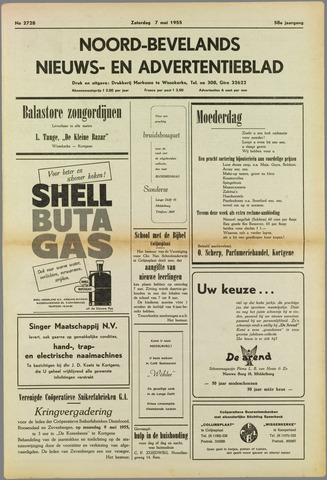 Noord-Bevelands Nieuws- en advertentieblad 1955-05-07