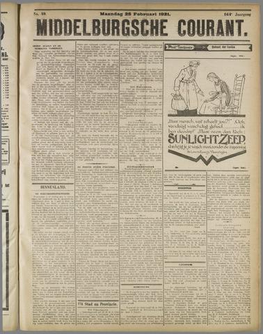 Middelburgsche Courant 1921-02-28