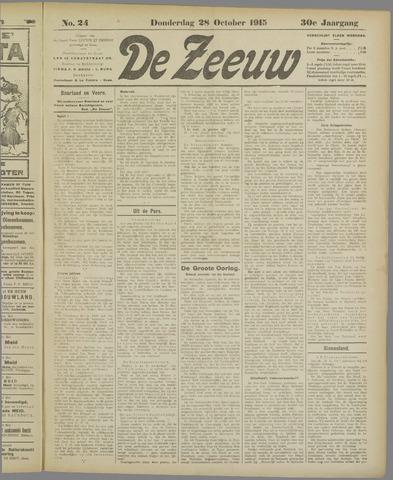De Zeeuw. Christelijk-historisch nieuwsblad voor Zeeland 1915-10-28
