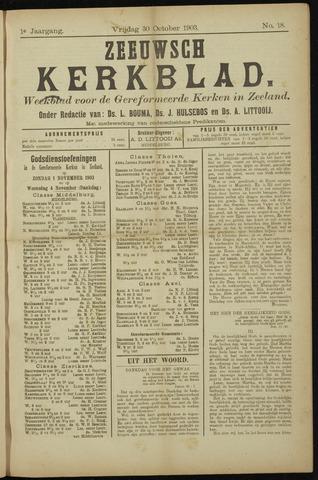 Zeeuwsche kerkbode, weekblad gewijd aan de belangen der gereformeerde kerken/ Zeeuwsch kerkblad 1903-10-30