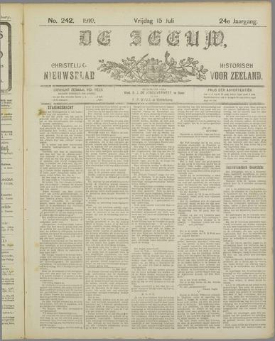 De Zeeuw. Christelijk-historisch nieuwsblad voor Zeeland 1910-07-15