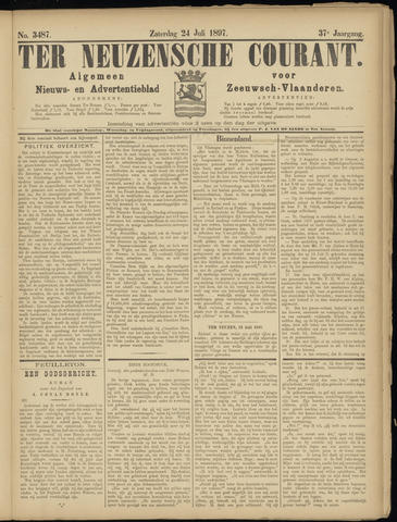 Ter Neuzensche Courant. Algemeen Nieuws- en Advertentieblad voor Zeeuwsch-Vlaanderen / Neuzensche Courant ... (idem) / (Algemeen) nieuws en advertentieblad voor Zeeuwsch-Vlaanderen 1897-07-24