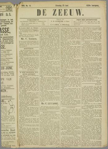 De Zeeuw. Christelijk-historisch nieuwsblad voor Zeeland 1891-06-23