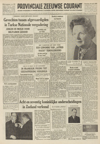 Provinciale Zeeuwse Courant 1960-04-30