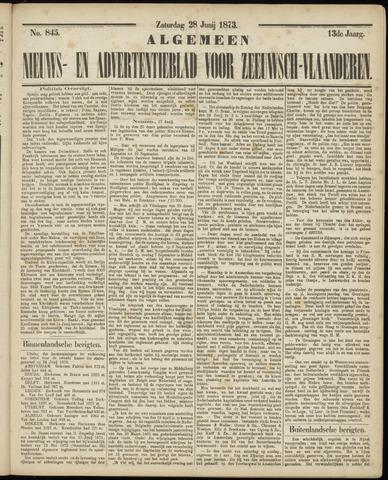 Ter Neuzensche Courant. Algemeen Nieuws- en Advertentieblad voor Zeeuwsch-Vlaanderen / Neuzensche Courant ... (idem) / (Algemeen) nieuws en advertentieblad voor Zeeuwsch-Vlaanderen 1873-06-28