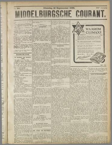 Middelburgsche Courant 1922-09-12
