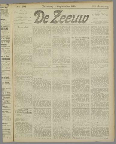 De Zeeuw. Christelijk-historisch nieuwsblad voor Zeeland 1917-09-01