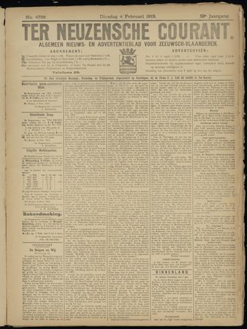 Ter Neuzensche Courant. Algemeen Nieuws- en Advertentieblad voor Zeeuwsch-Vlaanderen / Neuzensche Courant ... (idem) / (Algemeen) nieuws en advertentieblad voor Zeeuwsch-Vlaanderen 1919-02-04
