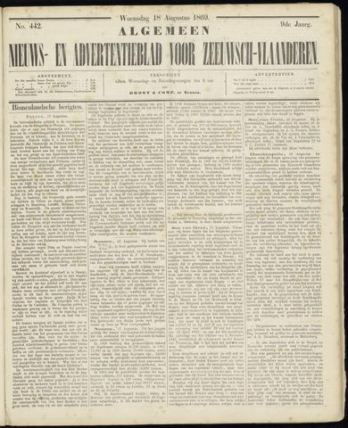 Ter Neuzensche Courant. Algemeen Nieuws- en Advertentieblad voor Zeeuwsch-Vlaanderen / Neuzensche Courant ... (idem) / (Algemeen) nieuws en advertentieblad voor Zeeuwsch-Vlaanderen 1869-08-18