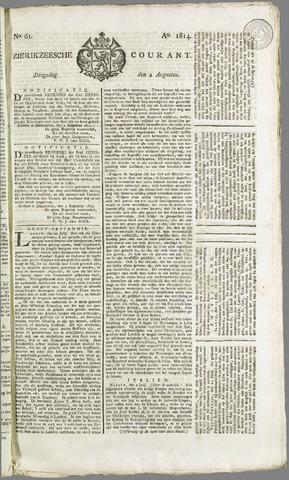 Zierikzeesche Courant 1814-08-02