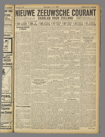 Nieuwe Zeeuwsche Courant 1923-06-04