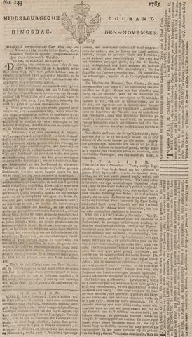 Middelburgsche Courant 1785-11-29