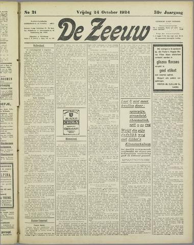 De Zeeuw. Christelijk-historisch nieuwsblad voor Zeeland 1924-10-24