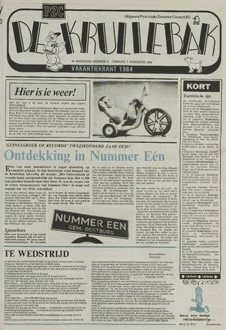 Provinciale Zeeuwse Courant katern Krullenbak (1981-1999) 1984-08-07