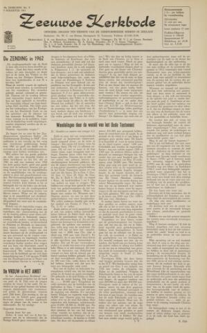 Zeeuwsche kerkbode, weekblad gewijd aan de belangen der gereformeerde kerken/ Zeeuwsch kerkblad 1963-08-09