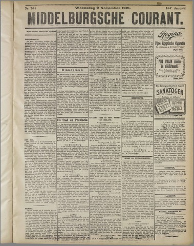 Middelburgsche Courant 1921-11-09