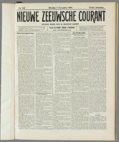 Nieuwe Zeeuwsche Courant 1908-11-03