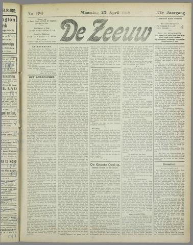 De Zeeuw. Christelijk-historisch nieuwsblad voor Zeeland 1918-04-22