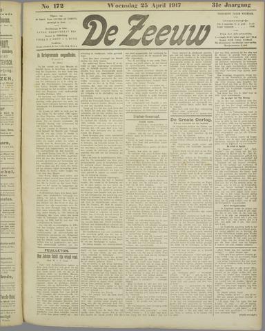 De Zeeuw. Christelijk-historisch nieuwsblad voor Zeeland 1917-04-25