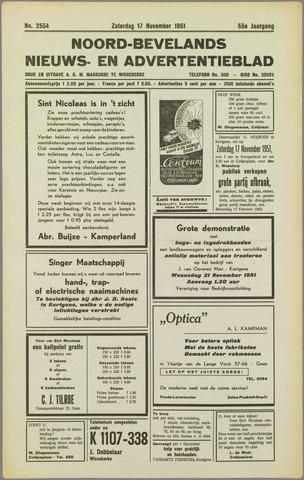Noord-Bevelands Nieuws- en advertentieblad 1951-11-17
