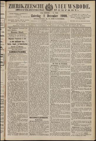 Zierikzeesche Nieuwsbode 1900-12-01
