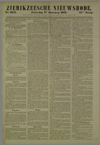 Zierikzeesche Nieuwsbode 1889-01-19