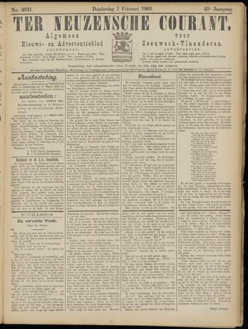 Ter Neuzensche Courant. Algemeen Nieuws- en Advertentieblad voor Zeeuwsch-Vlaanderen / Neuzensche Courant ... (idem) / (Algemeen) nieuws en advertentieblad voor Zeeuwsch-Vlaanderen 1901-02-07