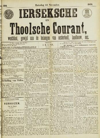 Ierseksche en Thoolsche Courant 1891-11-14