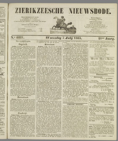 Zierikzeesche Nieuwsbode 1865-07-05