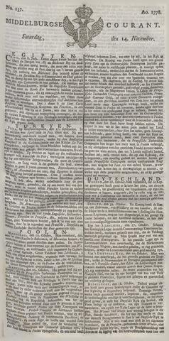 Middelburgsche Courant 1778-11-14