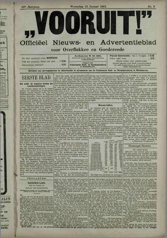 """""""Vooruit!""""Officieel Nieuws- en Advertentieblad voor Overflakkee en Goedereede 1915-01-13"""
