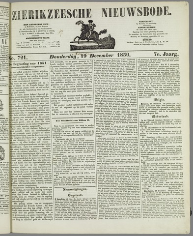 Zierikzeesche Nieuwsbode 1850-12-19