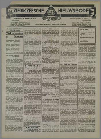 Zierikzeesche Nieuwsbode 1936-02-01
