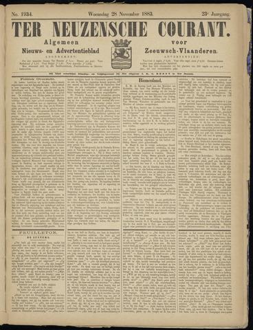 Ter Neuzensche Courant. Algemeen Nieuws- en Advertentieblad voor Zeeuwsch-Vlaanderen / Neuzensche Courant ... (idem) / (Algemeen) nieuws en advertentieblad voor Zeeuwsch-Vlaanderen 1883-11-28