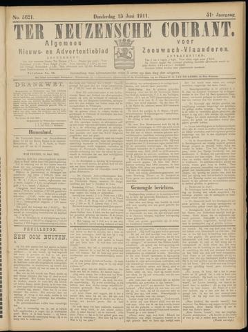 Ter Neuzensche Courant. Algemeen Nieuws- en Advertentieblad voor Zeeuwsch-Vlaanderen / Neuzensche Courant ... (idem) / (Algemeen) nieuws en advertentieblad voor Zeeuwsch-Vlaanderen 1911-06-15