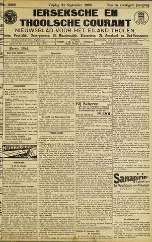 Ierseksche en Thoolsche Courant 1928-09-21