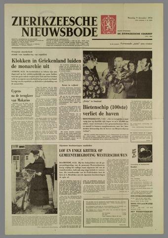 Zierikzeesche Nieuwsbode 1974-12-09