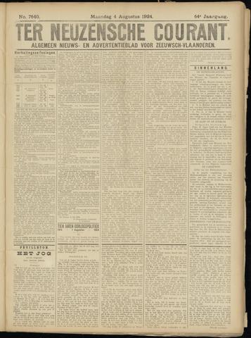 Ter Neuzensche Courant. Algemeen Nieuws- en Advertentieblad voor Zeeuwsch-Vlaanderen / Neuzensche Courant ... (idem) / (Algemeen) nieuws en advertentieblad voor Zeeuwsch-Vlaanderen 1924-08-04