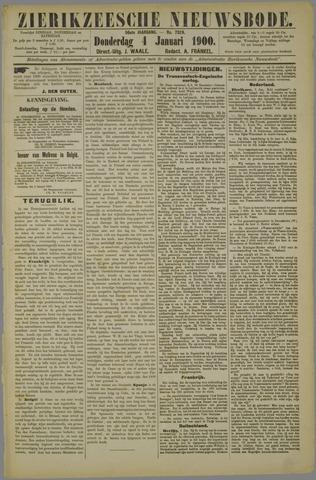 Zierikzeesche Nieuwsbode 1900-01-04