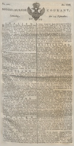 Middelburgsche Courant 1776-09-14