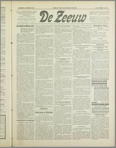 De Zeeuw. Christelijk-historisch nieuwsblad voor Zeeland 1937-02-03