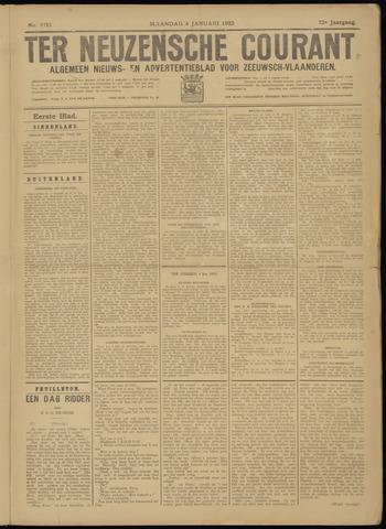 Ter Neuzensche Courant. Algemeen Nieuws- en Advertentieblad voor Zeeuwsch-Vlaanderen / Neuzensche Courant ... (idem) / (Algemeen) nieuws en advertentieblad voor Zeeuwsch-Vlaanderen 1932-01-04