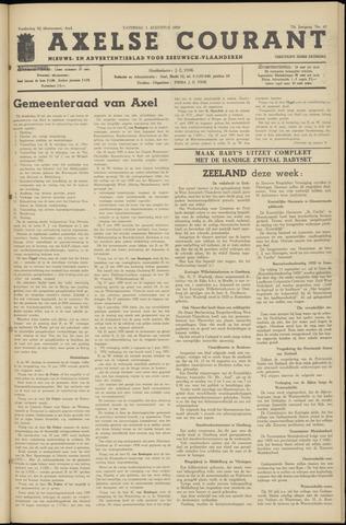 Axelsche Courant 1959-08-01