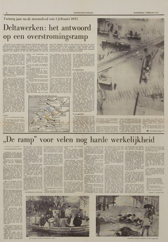 Watersnood documentatie 1953 - kranten 1973-02-01
